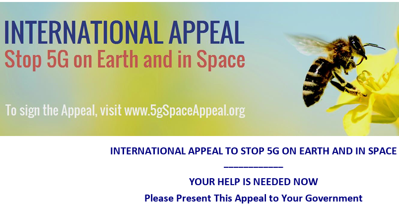 Please sign the petition to stop 5G from earth and in space – this petition may now be signed by EVERYONE