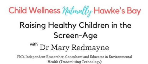 Dr. Mary Redmayne to speak on digital devices and children's health in Hawkes Bay on March 14