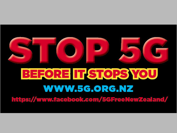 5G Free New Zealand Bumper stickers