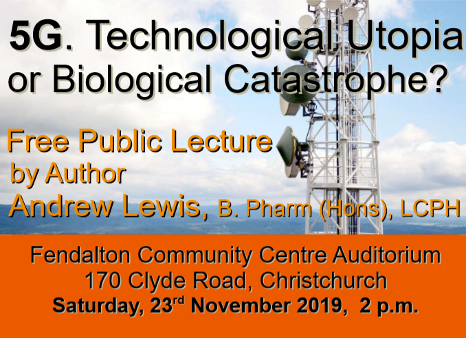 Free lecture on 5G in Christchurch Saturday November 23, 2019