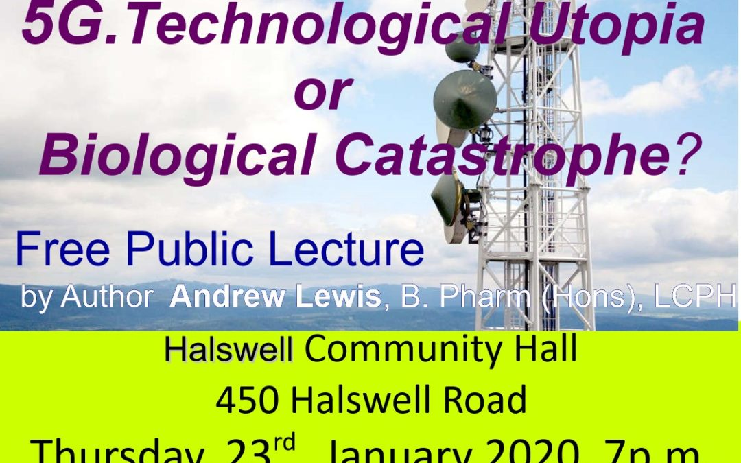5G Lecture in Christchurch Thursday 23 January 2020